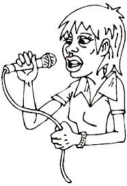 Girl Singer Coloring Page