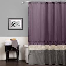 Lush Decor Window Curtains by Lush Decor Mia Purple Gray Shower Curtain
