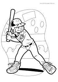 Baseball Batter Color Page Sports Coloring Pages Plate More Free Printable