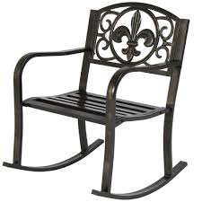 Details About Outdoor Rocking Chair Patio Metal Rocker Porch Garden ... 1960s Rocking Chair In Red Plastic Strings On Black Metal Frame Wicker Grey At Home Details About Lawn Rocker Patio Fniture Garden Front Porch Outdoor Fleur Chairs Coffee Table Mesh Rare Salterini Radar Wrought Iron Scrollwork Design Decorative Deck Monceau Chair For Outdoor Living Space Staton Amazonin Kitchen Amazoncom Mygift Dark Brown Woven Metal Patio Rocking Chairs Carinsuncerateszipco Hampton Bay Wood
