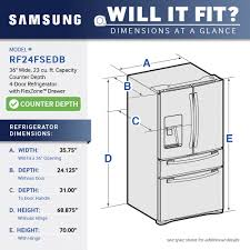 Samsung Counter Depth Refrigerator Home Depot by Samsung 22 6 Cu Ft Counter Depth 4 Door French Door