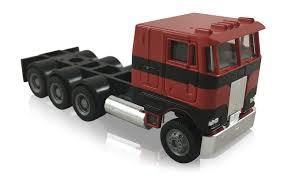 100 Toy Peterbilt Trucks Promotex COE 3 Axle Red W 3 Axle Lowboy Red 187