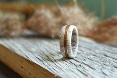 Colorado Elk Antler With Historic Teak Wood From The USS North Carolina And Rose Gold Make A Stunning Ring