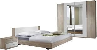 wimex schlafzimmer set franziska bestehend aus bett nachtschrank und schrank liegefläche 180 x 200 cm mehrfarbig