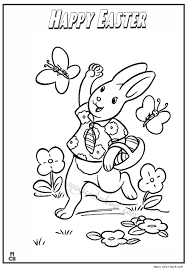 Happy Easter Coloring Pages 03