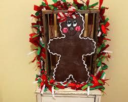 Gingerbread Yard Sign Christmas Art Rustic