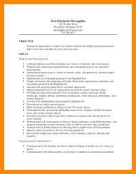 Resume For Vet Assistant