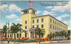 Old postcard Orlando post office