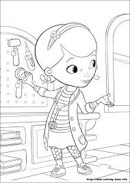 Doc McStuffins Coloring Pages On Book