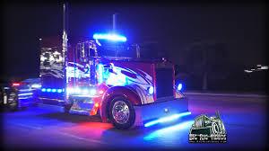 100 Semi Truck Led Lights Light Em Up Light Show Complilation YouTube
