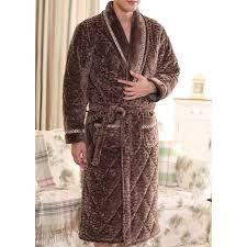 robe de chambre homme chaude robe de chambre homme matelassée marron foncé motifs achat