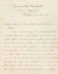 MHS Collections line Letter from John A Andrew to Robert Gould