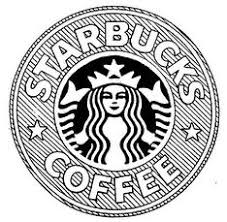 Starbucks Logo Drawing Tumblr Black And White Coffee