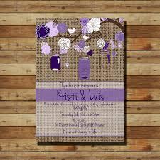 Purple And Burlap Wedding Invitations 32 Best Lisa Images Weddings Ideas