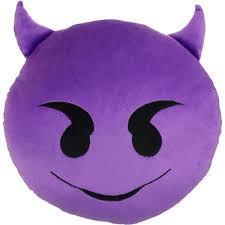 Decorative Couch Pillows Walmart by Emoji Expressions Purple Devil Pillow Walmart Com Idolza