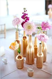 Diy Party Centerpieces 7 Clever You Should Copy Right Now Flowers Styled In Gold Painted