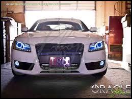 07 14 Audi A5 LED Dual Color Halo Rings Head Fog Lights Bulbs