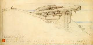 100 Frank Lloyd Wright Sketches For Sale Arch Oboler House 1941 Malibu California