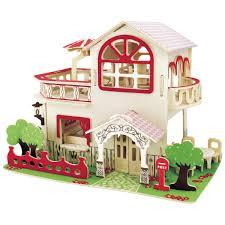 Cuteroom DIY Wooden Dollhouse Miniature Kit Doll House LEDMusic