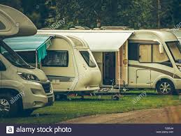 100 Modern Design Travel Trailers RV Park Camping Recreational Vehicles On The Campsite
