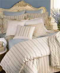 Ralph Lauren Villandry Cream w Blue & beige Stripe 12p King Duvet