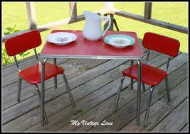 Vintage 1950's Childrens Table And Chair Set | Throwback! | Table ...