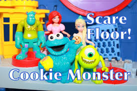 Disney Store Scares Up An by Alltoycollector Cookie Monster Visits Monsters Inc U0026 Scare Floor