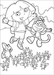 Dora The Explorer Coloring Pages Printable 18 7 Kids