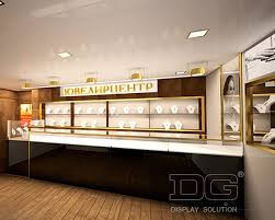 JE08 Wall Mount Led Lighted Vintage Jewelry Display Cases