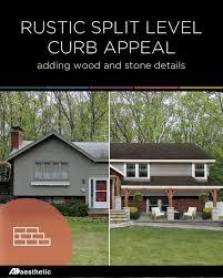100 Split Level Curb Appeal Reader Mockup Rustic Exterior