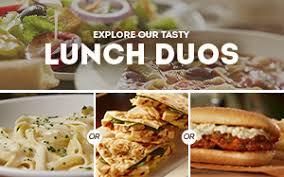Pronto Lunch Menu Item List