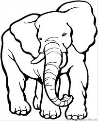 Elephant Coloring Pages Printable For Kids