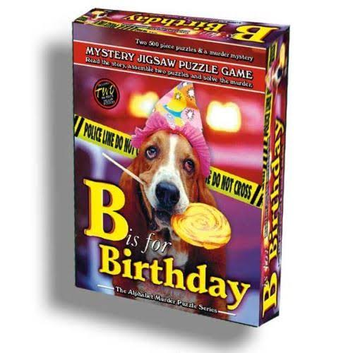B is for Birthday Murder Mystery Jigsaw Puzzle - 1000pcs