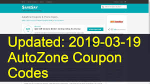 AutoZone Coupon Codes: 2 Valid Coupons Today (Updated: 2019-03-03) Autozone Sale Offers 20 Off Coupon Battery Coupons Autozone Avis Rental Car Discounts Autozone Black Friday Ads Deal Doorbusters 2018 Couponshy Coupons For O3 Restaurant San Francisco Coupon In Store Wcco Ding Out Deals More Money Instant Win Games Win Prizes Cash Prize Car Id Code 10 Retail Roundup Travel Codes Promo Deals On Couponsfavcom 70 Off Amazon Code Aug 2122 January 2019 Choices