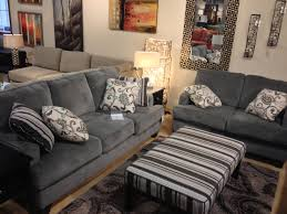 Levon Charcoal Sofa And Loveseat by Yvette Steel Couch And Loveseat At Ashley Furniture Tricities