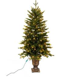 Home Accents Holiday 4 Ft Pre Lit LED Aspen Fir Potted Artificial Christmas Tree