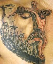 Drawn Cross Jesus Face 2
