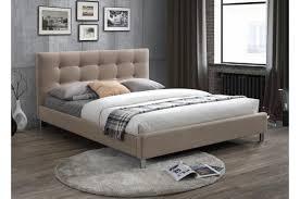chambre avec tete de lit capitonn lit beige 160 en tissu avec tête de lit capitonnée tulius design sur