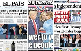 The Donald Trump Era Dawns How Newspapers Around World Reported His Inauguration