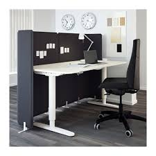 bekant reception desk sit stand black brown black 160x80 120 cm
