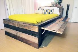 Diy Twin Pallet Headboard DIY Twin Bed Made From Pallets