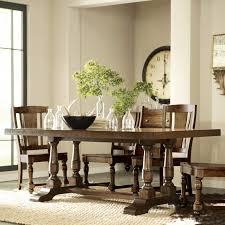 Ethan Allen Dining Room Table Round by Ethan Allen Trestle Dining Table