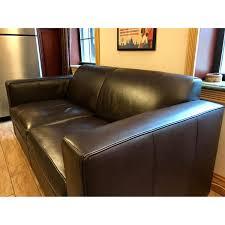 Restoration Hardware Sleeper Sofa by Room U0026 Board Ian Leather Sleeper Sofa Aptdeco