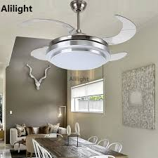 Retractable Blade Ceiling Fan by Led Ceiling Fans With Light Decorative Retractable Blade Luxury