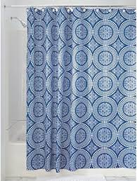 badezimmer gelb braun duschvorhang abstrakte mosaik waves