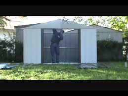 Sears Metal Shed Instructions by Assembly Of A Lowes Shed By Hands For You Assembly Youtube