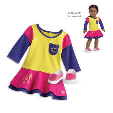 Amazoncom American Girl Truly Me Playful ColorBlock Dress Outfit