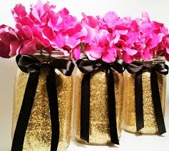 Pink White And Gold Birthday Decorations by Image Result For Centerpieces With Black And Gold Table Setting