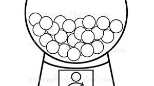 Amazing Bubble Gum Machine Coloring Page Print Drawing Cute Clip Art A Classic Red Gumball