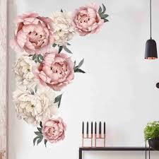 40x60 60 90 cm große rosa pfingstrose blume wand aufkleber